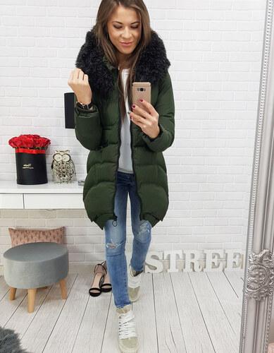 BASIC Zelená prešívaná zimná bunda (ty0455) - Glami.sk ce165bfd41d