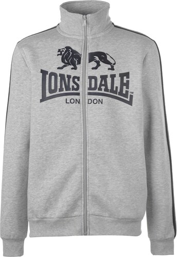 f2cec1e7545 Lonsdale 2 Stripe Zip Though Jacket pánské Grey Marl Black - Glami.sk