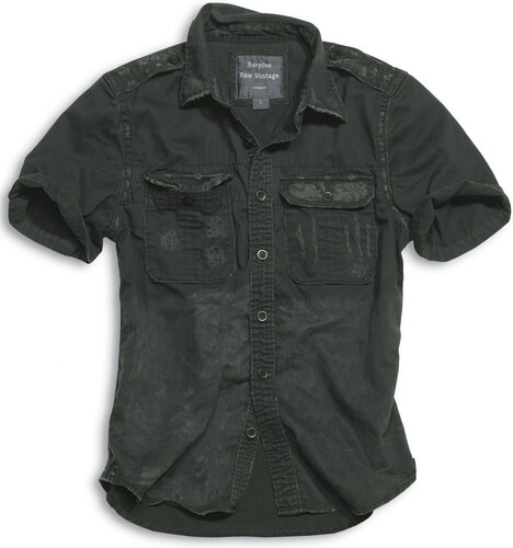 Surplus Košile Raw Vintage krátký rukáv - černá - Glami.cz 58ccf5e0d0