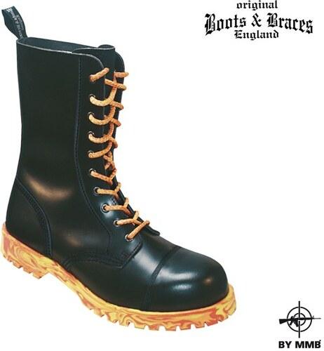 63b0c9355f5 Boots and Braces Těžké kožené boty 10 Fire - černé - Glami.cz