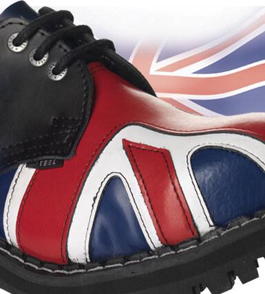 d647fc4205b STEEL Boots Boty Steel 3-dírkové Britská vlajka - modré stírané ...