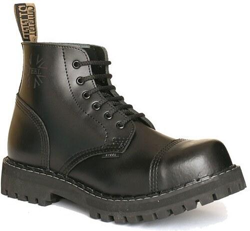 6f8bb1720ac STEEL Boots Boty Steel 6-dírkové - černé - Glami.cz