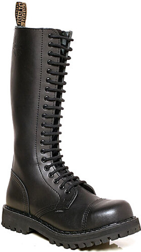 9c593500490 STEEL Boots Boty Steel 20-dírkové - černé - Glami.cz