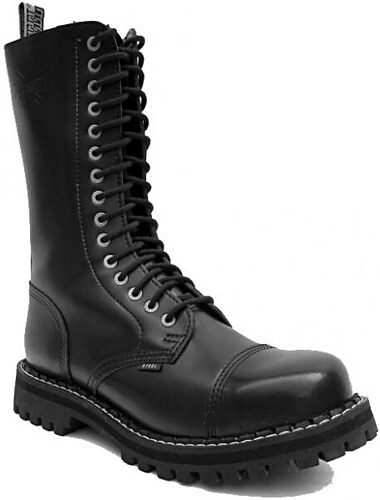 635a42d5516 STEEL Boots Boty Steel 15-dírkové - černé - Glami.cz