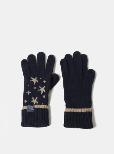 Tmavě modré dámské vlněné vzorované rukavice Tom Joule Intarsia ... 1d87b22632