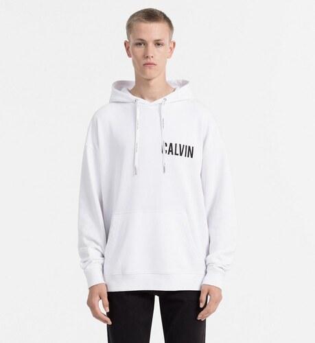 65b433b6ab Calvin Klein pánska biela mikina Hardco - Glami.sk