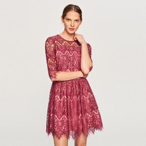 7454acd78fca Reserved - Čipkované šaty - Ružová - Glami.sk