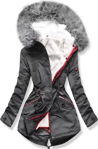 MODOVO Dámska zimná bunda s kapucňou PO-303 grafitová - Glami.sk ed5b8cd4c0c