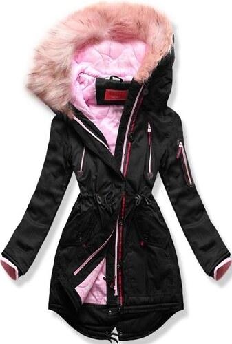 MODOVO Dámska zimná bunda s kapucňou PO-301 čierna - Glami.sk dc6e1944312