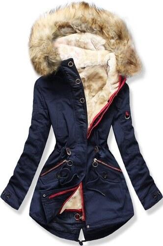 MODOVO Dámska zimná bunda s kapucňou PO-303 tmavo modrá - Glami.sk e0018c5112c