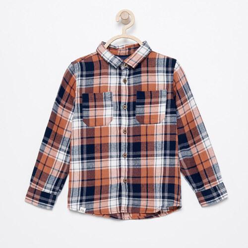 Reserved - Flanelová kostkovaná košile - Oranžová - Glami.cz 91891f82ed