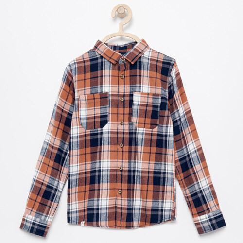 a5d9c3e10a33 Reserved - Kockovaná flanelová košeľa - Oranžová - Glami.sk