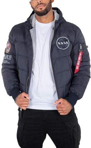 Alpha Industries Hooded Puffer Apollo 11 188142 07 férfi kabát ... 9538811bbd