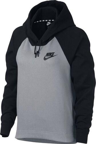 d2ca145875b Nike W Nsw Av15 Hoodie šedá S - Glami.cz