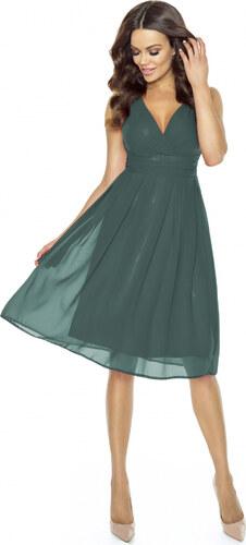 Kartes Elegantní šifónové šaty se sklady - zelené - Glami.cz 2d38ef6959