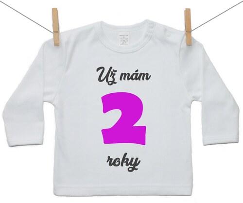 d460da05ab Boodyy Tričko s dlhým rukávom Už mám 2 roky Dievča 74 (6-9 mesiacov ...