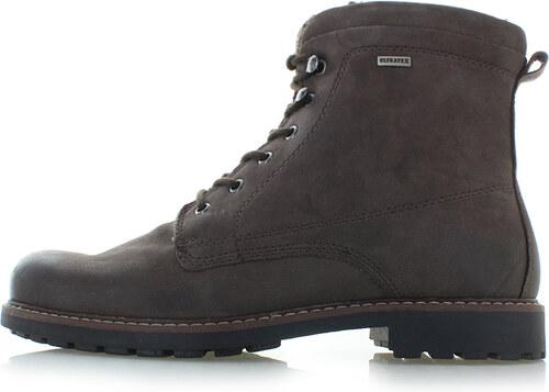Klondike Pánske tmavohnedé kožené členkové topánky Wyne - Glami.sk bbd4729f75b