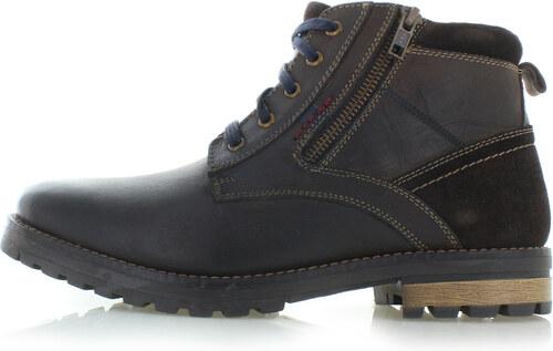 838b322579494 Klondike Pánske tmavohnedé kožené členkové topánky Derian - Glami.sk