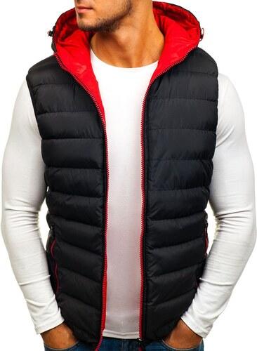 Čierna pánska obojstranná vesta s kapucňou BOLF 5375 - Glami.sk 41c31e3dd79