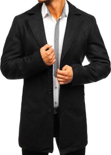 Černý pánský zimní kabát Bolf 5438 - Glami.cz fff742bbe67