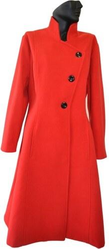 1e28490276 Elegantní vlněný dámský zimní kabát se stojáčkem Exclusive ...
