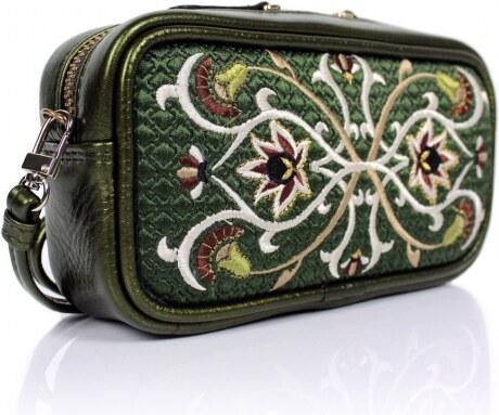 GOSHICO - Kožená vyšívaná kabelka do ruky i na rameno FANCY - 51-285356 7a4474ec1cb