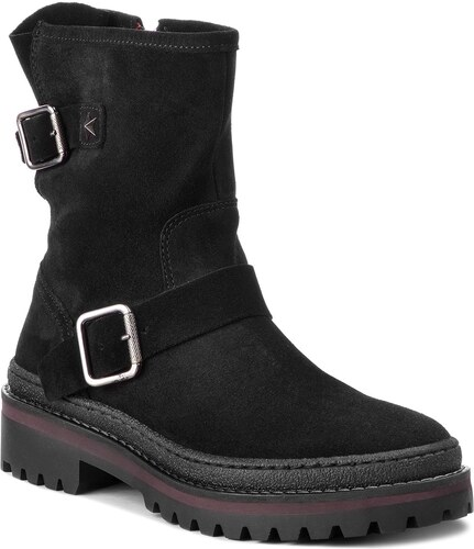 Členková obuv TOMMY HILFIGER - Basic Biker Boot Sue FW0FW03308 Black ... 4bb160d1fc0