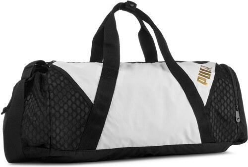 Táska PUMA - Ambition Barrel Bag 075460 Puma White Puma Black 01 ... 9ac8e66888