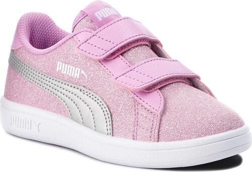 b335a93221c Sneakersy PUMA - Smash V2 Glitz GlamV Ps 367378 02 Orchid Puma Silver