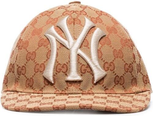 Gucci brown and white GG New York Yankees baseball cap - Glami.cz 62d655269a
