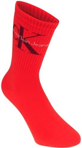 8e047b0ca Dámské ponožky Calvin Klein Crew Červené - Glami.cz