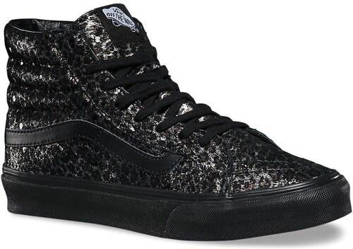 vans Dámské kotníkové boty sk8-hi slim (metallic leopard) black black 40.5 bfc542c78e