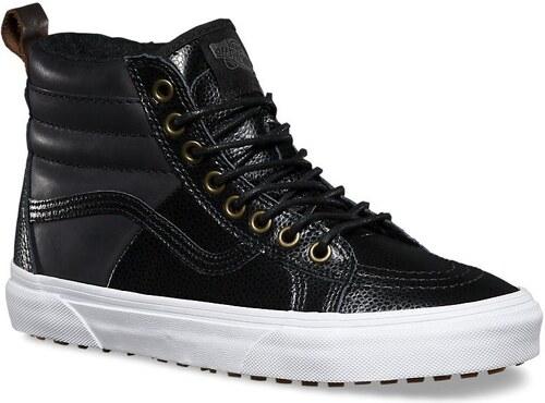 vans Dámské zimní boty sk8-hi 46 mte (pebble leather) black 38 ac6430e1398