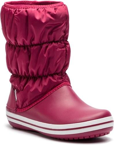 Sněhule CROCS - Winter Puff Boot 14614 Pomegranate White - Glami.cz 01be05fdb3
