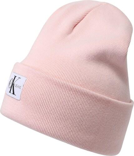 Calvin Klein Jeans Čepice  J MONOGRAM BEANIE W  růžová - Glami.cz aa1855c672
