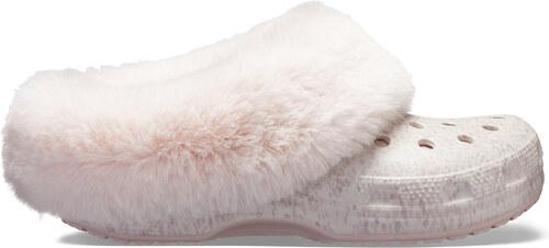 Crocs pudrové pantofle Mammoth Luxe Radiant Clog Rose Dust - W8 ... f4416d8b87