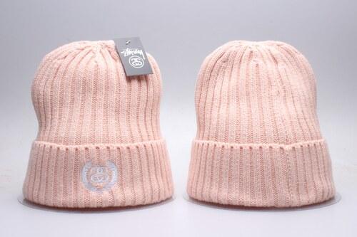 Zimní pletená čepice STÜSSY BEANIE - růžová - Glami.cz 2bdd901b4d