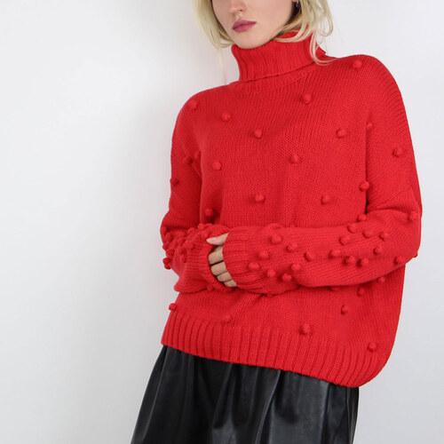 VILA Červený svetr Pomma XS - Glami.cz 4bb2381468