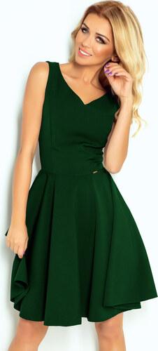 NUMOCO Zelené šaty s výstrihom do V 114-10 - Glami.sk fd5ac35eb1e