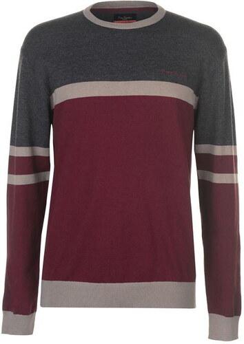 Pierre Cardin Colour Contrast Striped Crew férfi kötött pulóver ... b99b37eaf2