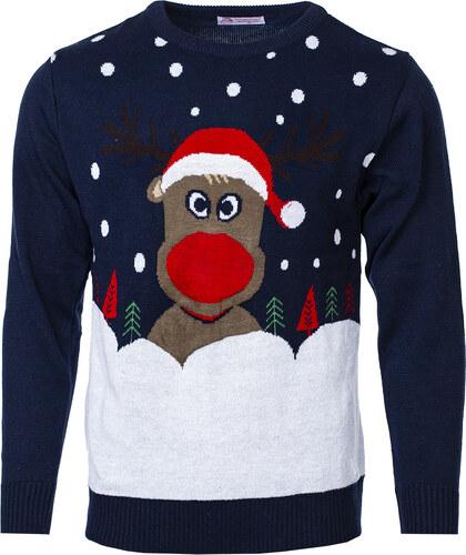 6d1b5687e65e Swetry Swiateczne Pánsky vianočný sveter so sobom Christmas Reindeer čierny