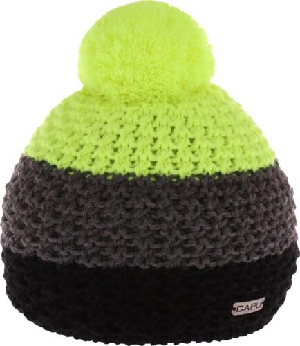 da907b82f Pánska zimná čiapka Capu 318 čierna / žltá - Glami.sk