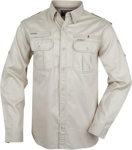 Pánská košile BUSHMAN Hammer béžová - Glami.cz 60d1e74ed6
