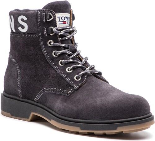 Čižmy TOMMY JEANS - Suede Boot EM0EM00235 Magnet 008 - Glami.sk e7d09314109
