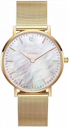 7293304c1d1 Shim Watch Classy dámské hodinky s opálovým odleskem Zlaté - Glami.cz