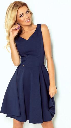 Numoco Šaty s kruhovou sukňou 114-7 - tmavomodré - Glami.sk 49247481764