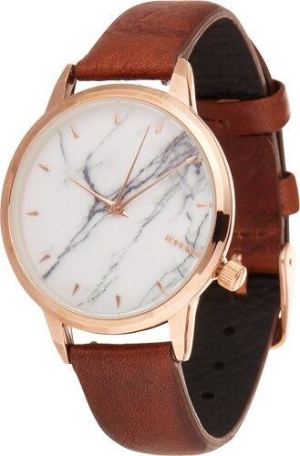 Komono Analogové hodinky  Lexi Marble  hnědá   růžově zlatá   bílá ... 6e496d3fbd