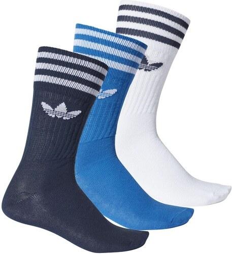 275654117ca adidas Originals Solid Ponožky Crew - 3 balenie   3 farby - Glami.sk