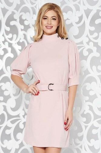 StarShinerS Rózsaszínű Artista elegáns ruha övvel ellátva rugalmas anyag 5f48662927