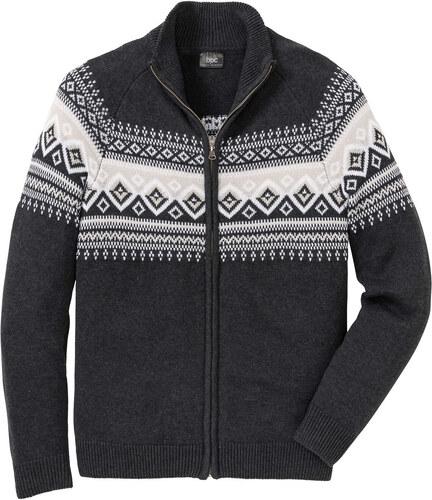 f17a68c110f3 Bonprix Pletený sveter s nórskym vzorom - Glami.sk